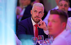 CARDIFF, WALES - Wednesday, June 1, 2016: Wales' Aaron Ramsey during a charity send-off gala dinner at the Vale Resort Hotel ahead of the UEFA Euro 2016. (Pic by David Rawcliffe/Propaganda)