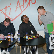 London, UK, 8th August 2017. Shaun Ryder,Kermit Leveridge discusses Black Grape's new album, Pop Voodoo, with Matt Stocks.
