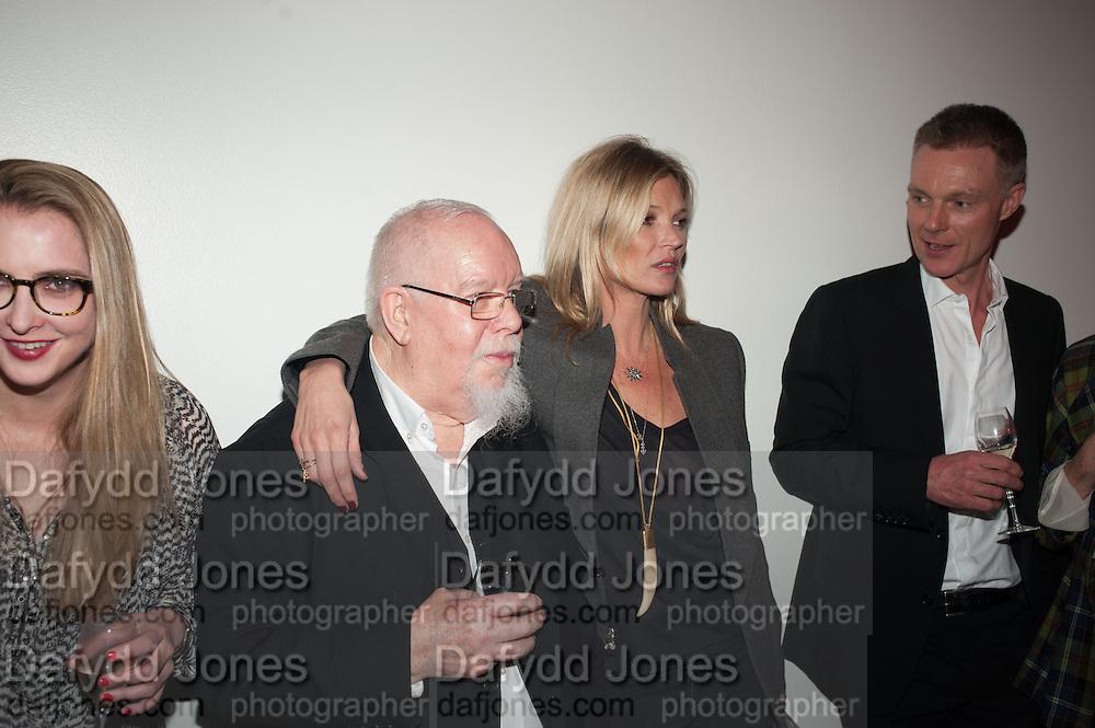 DAISY DE VILLENEUVE; KATE MOSS; SIR PETER BLAKE;, Opening of Bailey's Stardust - Exhibition - National Portrait Gallery London. 3 February 2014