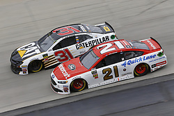 May 6, 2018 - Dover, Delaware, United States of America - Paul Menard (21) and Ryan Newman (31) battle for position during the AAA 400 Drive for Autism at Dover International Speedway in Dover, Delaware. (Credit Image: © Chris Owens Asp Inc/ASP via ZUMA Wire)