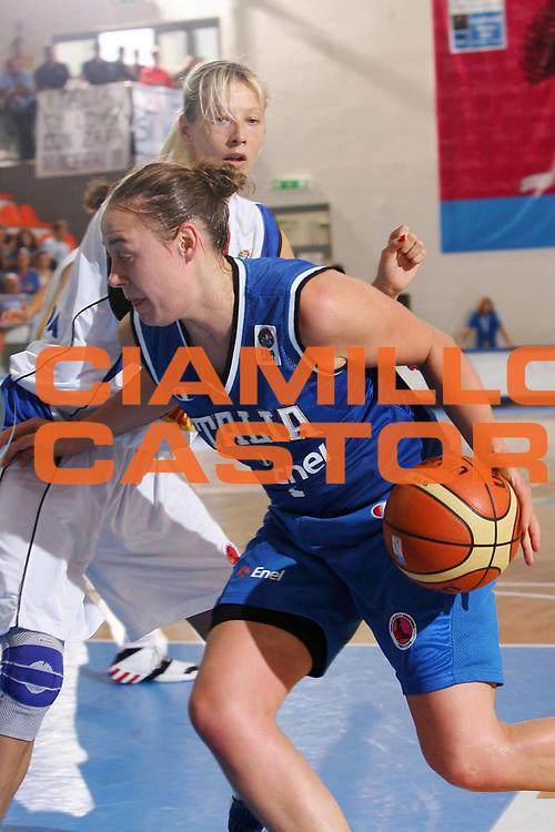 DESCRIZIONE : Ortona Italy Italia Eurobasket Women 2007 Serbia Italia Serbia Italy <br /> GIOCATORE : Kathrin Ress <br /> SQUADRA : Nazionale Italia Donne Femminile <br /> EVENTO : Eurobasket Women 2007 Campionati Europei Donne 2007 <br /> GARA : Serbia Italia Serbia Italy <br /> DATA : 01/10/2007 <br /> CATEGORIA : Penetrazione <br /> SPORT : Pallacanestro <br /> AUTORE : Agenzia Ciamillo-Castoria/S.Silvestri <br /> Galleria : Eurobasket Women 2007 <br /> Fotonotizia : Ortona Italy Italia Eurobasket Women 2007 Serbia Italia Serbia Italy <br /> Predefinita :