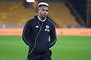 Wolverhampton Wanderers Forward Adama Traore (37) inspects the pitch during the Premier League match between Wolverhampton Wanderers and Chelsea at Molineux, Wolverhampton, England on 5 December 2018.