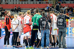 Team of Denmark during handball match between National teams of Macedonia and Denmark on Day 7 in Main Round of Men's EHF EURO 2018, on January 24, 2018 in Arena Varazdin, Varazdin, Croatia. Photo by Mario Horvat / Sportida