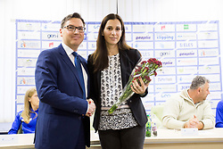 Roman Dobnikar, president of AZS and Marija Sestak at press conference of Athletic association Slovenia before IAAF World Indoor Championship Birmingham 2018, on February 22, 2017 in Ljubljana, Slovenia. Photo by Urban Urbanc / Sportida
