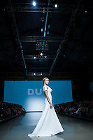 Montreal designer DUY Spring Summer 2013 collection show presented at the 23rd edition of Montreal Fashion Week. L'Arsenal, Montreal. September 5, 2012. © Allen McEachern.
