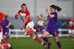 Ella Rutherford of Bristol City Women in action against Niamh Fahey of Liverpool Women - Mandatory by-line: Paul Knight/JMP - 17/11/2018 - FOOTBALL - Stoke Gifford Stadium - Bristol, England - Bristol City Women v Liverpool Women - FA Women's Super League 1