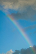 Rainbow over the North Shore of Oahu, Hawaii