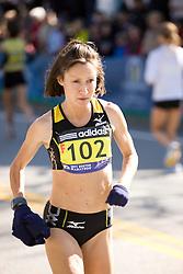 elite women runner warm up; Shireen Crumpton, New Zealand