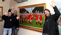Photo: Paul Thomas.<br /> Photography of Norwegian Liverpool supporters at Anfield. 04/03/2007.<br /> <br /> Norwegian Liverpool supporters Andre Oien (L), Einar Kvande and Per Arild Soly (R).