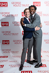 """© Licensed to London News Pictures. 26/10/2019. Salford, UK. Cast members from upcoming Russell T Davies drama """" Boys """" attend the George House Trust charity fundraising gala at the Lowry Hotel . The George House Trust provides support for those living with and affected by HIV . Photo credit: Joel Goodman/LNP"""