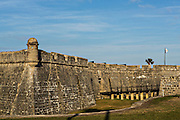 Castillo de San Marcos in St. Augustine, Florida. St Augustine is the oldest city in America.
