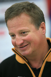 Coach Bozo Jaklin at press conference of Slovenian men and women alpine skiing national team before new season 2008/2009 in Hervis, City park, BTC, Ljubljana, Slovenia, on October 20, 2008.  (Photo by: Vid Ponikvar / Sportal Images).