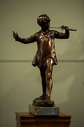 Pictured: <br /> <br /> A model of Sir George Frampton's bronze sculpture of J.M. Barrie's Peter Pan,  valued between £20,000 and £30,000 , will go up for auction by Lyon and Turnbull, Edinburgh, on 6 April.<br /> <br /> Ger Harley | EEm 3 April 2016