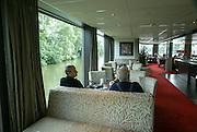 Rhine river boat cruise. Interior of the cruise boat