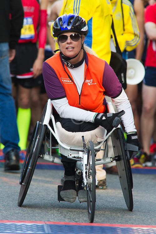 wheelchair athlete at start line
