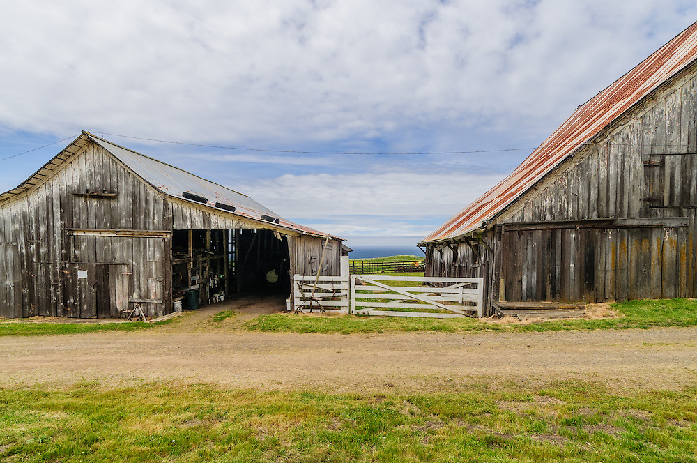 Barn  from State Route 1 near Elk, California, Mendocino County