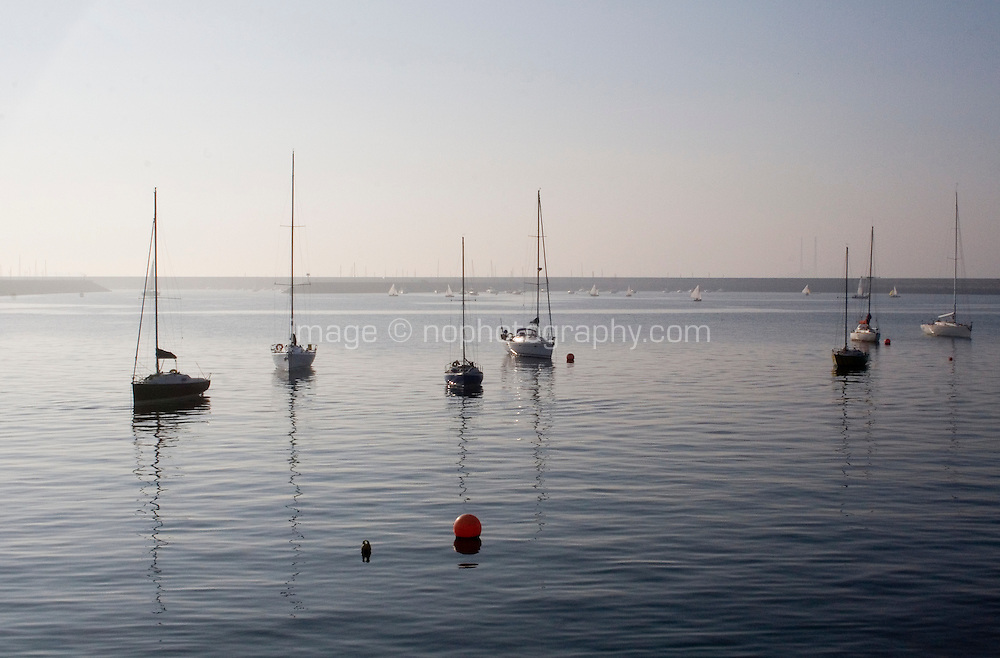 A calm evening in Dun Laoghaire Harbour, Dublin, Ireland