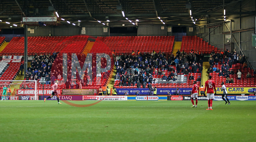 Peterborough United supporters at Charlton Athletic - Mandatory by-line: Joe Dent/JMP - 28/11/2017 - FOOTBALL - The Valley - Charlton, London, England - Charlton Athletic v Peterborough United - Sky Bet League One