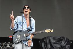 May 25, 2018 - Napa, California, U.S - PAUL JASON KLEIN of LANY during BottleRock Music Festival at Napa Valley Expo in Napa, California (Credit Image: © Daniel DeSlover via ZUMA Wire)