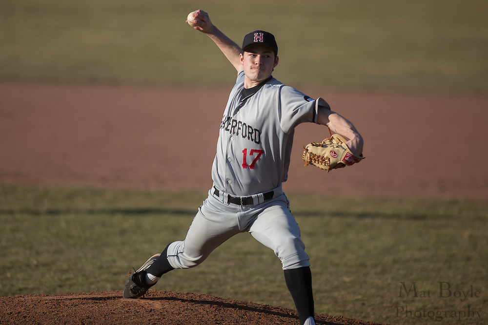 Haverford College Sophomore Right Handed Pitcher Tommy Bergjans (15) - Haverford College Baseball at Rowan University at Rowan University in Glassboro, NJ on Tuesday March 5, 2013. (photo / Mat Boyle)
