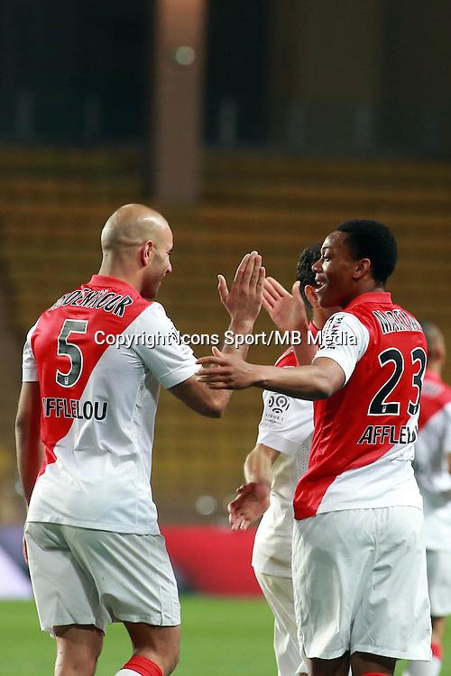 Joie Abdennour Aymen / Martial Anthony  - 13.03.2015 -   Monaco / Bastia -  29eme journee de Ligue 1 <br /> Photo : Serge Haouzi / Icon Sport