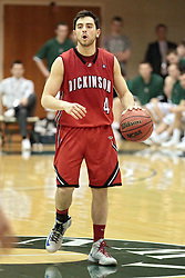 14 March 2014:  Adam Honig during an NCAA mens division 3 quarter final basketball game between the Dickinson Red Devils and the Wheaton Thunder in Shirk Center, Bloomington IL
