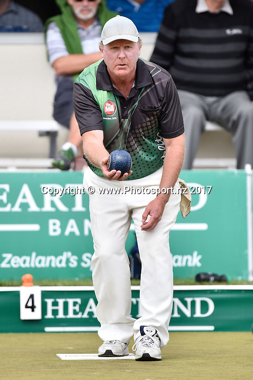Dean Elgar of West End bowls in the Mens Singles semi final during the Bowls National Open Championships Finals at Paritutu Bowling Club in New Plymouth on Sunday the 08 January 2017. Copyright Photo by Marty Melville / www.Photosport.nz