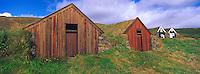 Islande. Ferme traditionnelle de Nupsstadur. // Iceland. Nupsstadur old farm.