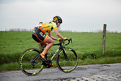 Karlijn Swinkels (NED) at Brabantse Pijl 2018, a 136.8 km road race starting and finishing in Gooik on April 11, 2018. Photo by Sean Robinson/Velofocus.com