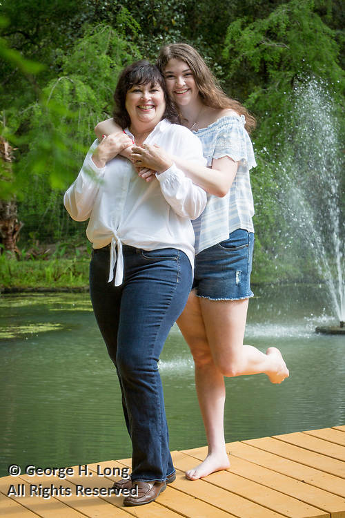 High school senior portrait of Callie Matthews with her mother, Kathryn in Abita Springs; photo ©2018, George H. Long