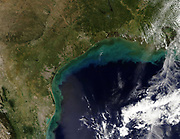 Satellite view of the Gulf Coast, USA - Tamaulipas, Mexico, to New Orleans, Louisiana. Credit NASA. Science Earth Geology Oceanography
