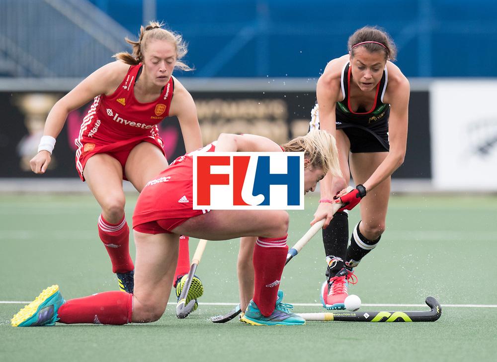 AUCKLAND - Sentinel Hockey World League final women<br /> Match id 10293<br /> 03 England v Germany <br /> Foto: Emily Defroand and /Celin Oruz.<br /> WORLDSPORTPICS COPYRIGHT FRANK UIJLENBROEK