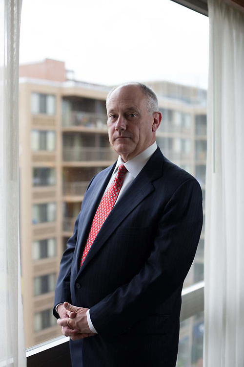 Dale A. Baich an attorney with the Office of The Federal Public Defender for the District of Arizona poses for a portrait in Washington, DC on April 22, 2015.  Photo by: Joshua Roberts/Getty Images for Der Spiegel