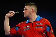 SuperChin, Daryl Gurney, during the Darts World Championship 2018 at Alexandra Palace, London, United Kingdom on 18 December 2018.