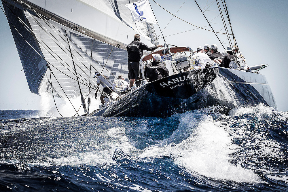 SPAIN, Palma. 19th June 2013. Superyacht Cup. J Class. Race One. Hanuman.