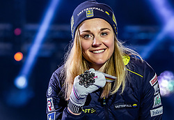 22.02.2019, Medal Plaza, Seefeld, AUT, FIS Weltmeisterschaften Ski Nordisch, Seefeld 2019, Langlauf, Damen, Sprint, Siegerehrung, im Bild Silbermedaillengewinnerin Stina Nilsson (SWE) // Silver medalist Stina Nilsson of Sweden during the winner Ceremony for theCross Country, Ladie's Sprint of FIS Nordic Ski World Championships 2019 at the Medal Plaza in Seefeld, Austria on 2019/02/22. EXPA Pictures © 2019, PhotoCredit: EXPA/ Dominik Angerer
