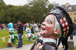 All 147 Oor Wullie sculptures for the bucket trail were assembled in St Andrew Square, Edinburgh, for a farewell weekend which attracted hundreds of visitors. Pic Terry Murden @edinburghelitemedia