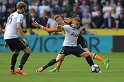Tottenham Hotspur Defender Kieran Trippier (16) and Hull City midfielder Sam Clucas (11) during the Premier League match between Hull City and Tottenham Hotspur at the KCOM Stadium, Kingston upon Hull, England on 21 May 2017. Photo by Ian Lyall.
