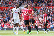 Manchester United 08 XI Nemanja Vidic celebrates his goal 1-1 during the Michael Carrick Testimonial Match between Manchester United 2008 XI and Michael Carrick All-Star XI at Old Trafford, Manchester, England on 4 June 2017. Photo by Phil Duncan.
