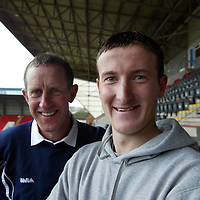 A very happy Chris Hay after proving to St Johnstone boss Billy Stark that he was worth keeping after scoring seven goals in seven games becoming St Johnstone's top scorer this season. Chris today signed a new deal to keep him at McDiarmid Park.<br />