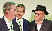 Grassroots Out Public Rally Campaign event at Queen Elizabeth Conference Centre, London, Great Britain <br /> 19th February 2016 <br /> <br /> Nigel Farage <br /> Tom Pursglove MP<br /> George Galloway <br /> <br /> <br /> Photograph by Elliott Franks <br /> Image licensed to Elliott Franks Photography Services
