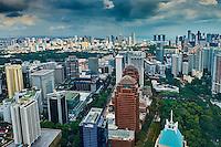 Singapour, vue generale, Orchad road au premier plan // Singapore, cityscape and Orchad Road