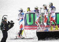 12.02.2019, Aare, SWE, FIS Weltmeisterschaften Ski Alpin, Teambewerb, im Bild Team Schweiz (1. Platz) // winner Team Switzerland during Team competition of FIS Ski World Championships 2019. Aare, Sweden on 2019/02/12. EXPA Pictures © 2019, PhotoCredit: EXPA/ Johann Groder