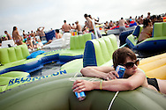 Floatopia in Mission Bay near Fanuel Street Park in San Diego, March 20, 2010. Roughly 5,000 people took to the water to skirt an alcohol ban on San Diego's beaches.
