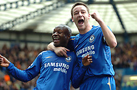Photo: Ed Godden.<br />Chelsea v West Ham United. The Barclays Premiership. 09/04/2006. William Gallas (L) celebrates making it 4-1 with John Terry.