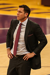 February 27, 2019 - Los Angeles, CA, U.S. - LOS ANGELES, CA - FEBRUARY 27: Lakers coach Luke Walton during the first half of the New Orleans Pelicans versus Los Angeles Lakers game on February 27, 2019, at Staples Center in Los Angeles, CA. (Photo by Icon Sportswire) (Credit Image: © Icon Sportswire/Icon SMI via ZUMA Press)