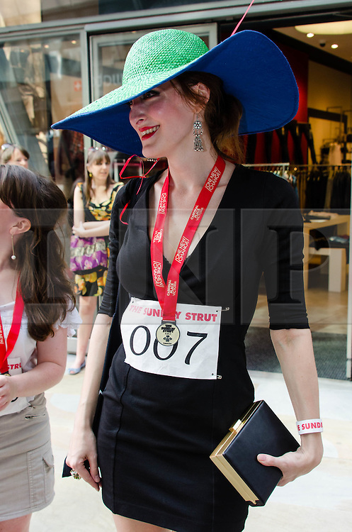 © Licensed to London News Pictures. 19/08/2012. London,UK.  A participant of  exclusive fundraising walk The Sunday Strut, in aid of The Princes Trust. Photo credit : Richard Isaac/LNP