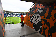 A general view inside Hull City KCOM stadium before the EFL Sky Bet Championship match between Hull City and Stoke City at the KCOM Stadium, Kingston upon Hull, England on 2 February 2019.
