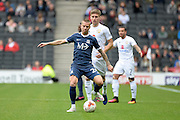 Southend United defender Jason Demetriou (24) looks to release the ball during the EFL Sky Bet League 1 match between Milton Keynes Dons and Southend United at stadium:mk, Milton Keynes, England on 22 October 2016. Photo by Dennis Goodwin.