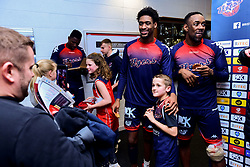Bristol Flyers players meet fans in the foyer after the final whistle of the match - Photo mandatory by-line: Ryan Hiscott/JMP - 17/01/2020 - BASKETBALL - SGS Wise Arena - Bristol, England - Bristol Flyers v London City Royals - British Basketball League Championship